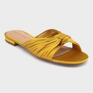Who What Wear Satin Knotted Slide Sandals